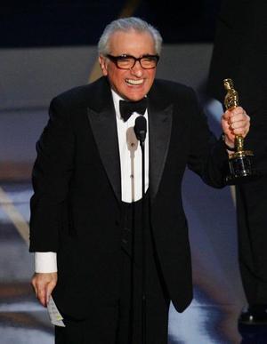 Martin Scosese var strålande glad över att äntligen få sin Oscar.