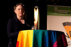 Emelie Lundin, ordförande i Bollnäs Pride. Foto: Arkiv/Simon Nilsson Larsson