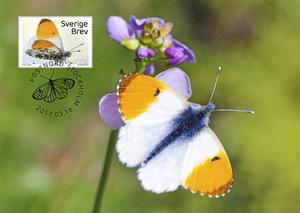 Fjärilar är en serie nyutgivna frimärkens som kan beses, köpas och fås specialstämplade i samband med Frimärkets dag den 18 mars.