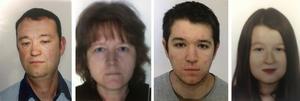 Familjen Troadec. Pappa Pascal, 49, mamma Brigitte, 49, sonen Sebastien, 21,  och dottern Charlotte, 18,   är sedan den 15 februari försvunna.