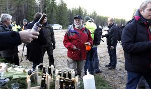 Christer Lundquist från Jädraås byförening var mycket nöjd med att vindkraftparken ska byggas i hans by.