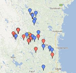Här har björnarna i Gävleborgslän skjutits så här långt i årets björnjakt.