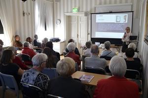 NORA. Föreläsning om ny teknologi för äldre ingick och intresset var stort.
