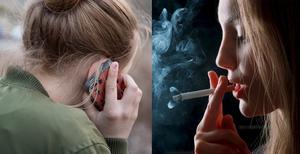 Rökningen minskar men otryggheten och stressen ökar. Fotograf: Jessica Gow/TT och Leif R Jansson/TT