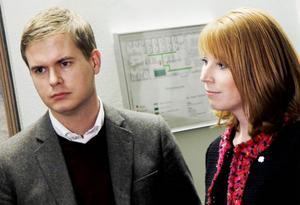 Partiledarna Gustav Fridolin (MP) och Annie Lööf (C) möttes i en debatt i Ås på torsdagen.