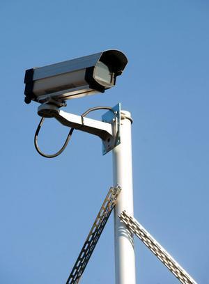 VA/Renhållningsenheten vill sätta upp en övervakningskamera på återvinningscentralen. Kameran på bilden sitter vid en återvinningscentral i Borlänge kommun.