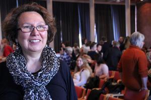 Marcela Bravo Landström, flydde från Chlle för 35 år sedan. Hon berättade om den långa resan till integration i det nya landet på utbildningsdagen i Söderhamn.