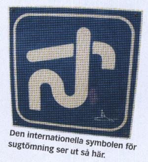 Symbolen för sugtömning.
