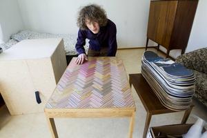 Bordet är en av Fredriks favoriter och kommer att finnas med på utställningen.