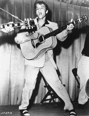 Elvis in action 1956.