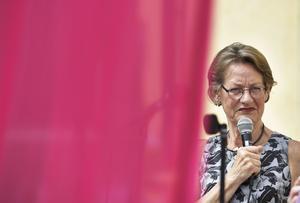 Gudrun Schyman talar på Donners plats i  Almedalen 2016.