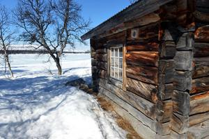 Ett fritidshus i Grövelsjön i Älvdalens kommun.
