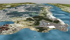 Sundsvalls Logistikpark är det kommunala bolag som har hand om det planerade jätteprojektet med en kombiterminal i Petersvik. Foto: Sundsvalls Logistikpark AB