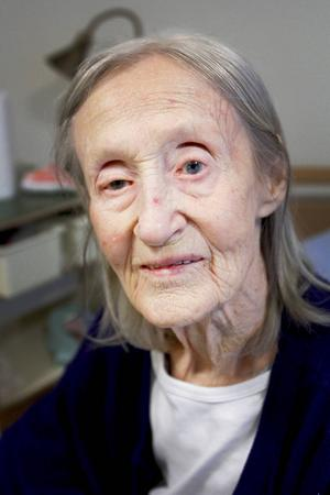 Brita Gelin, snart 105 år.
