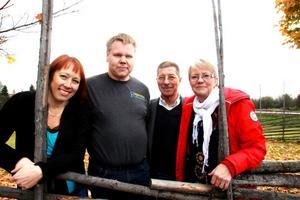 Anki Enevoldsen, Jonny Wikström, Conny Bringås, Bibbi Westhed tillhör ledningen för projektet Kompetensbyrån.