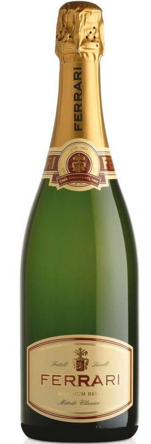 Gott bubbel. Italienska Ferrari Brut är ett bubbelvin av närmast champagnelik klass som nästan alla vinskribenter röstad på.