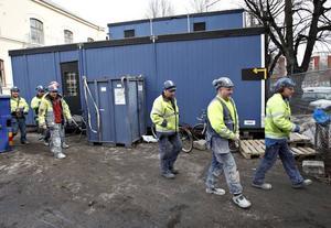 I går fick de 23 som är uttagna i strejkvarslet veta mer av Byggnads.