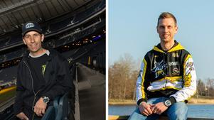 Greg Hancock på Friends Arena och Andreas Jonsson i hemmet i Ortalalund. I morgon startar bägge speedwayförarna i GP-premiären på Nya Zeeland.