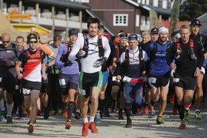 Vemdalens fjällmaraton, start för de som sprang 44 kilometer.