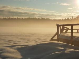 Morgondis vid sjön Värlingen utanför Norberg