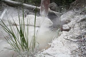 I kalkfickan passerar vattnet från Uxatjärn och varannan minut släpps 33 gram kalk ut för att se till att vattnet inte är surt när det kommer till Älman.