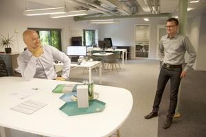 Söker fler konsulter. Konsultcheferna Sergio Castagna och Tobias Bäckström, även vd, på Consultive hoppas finna erfarna konsulter till kommande rekryteringar. Företaget är en av 19 utställare som hittills är bokade till Jobb Shop.