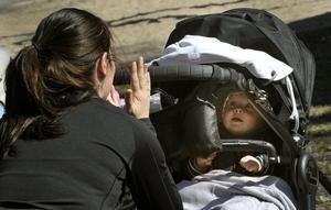 underhållning. Ibland krävs det en kort paus för att hålla bebisarna på bra humör.