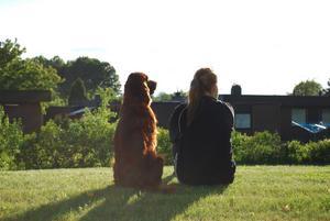 jag tog kort på när min sambo Lisa sitter tillsammans med hunden Farin och tänker på framtiden!