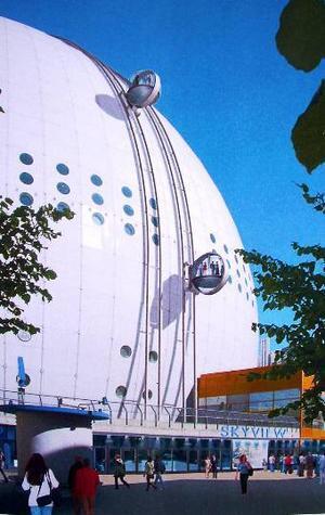 Med gondoler ska Globen i Stockholm bli en ny turistattraktion och locka de som vill se utsikten från toppen.