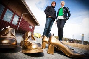 Laddar inför en dag i guldskorna gör Anders Edström, fritidsutvecklare i Östersunds kommun och Louise Öhrstedt, ungdomskultursamordnare i Krokom kommun.