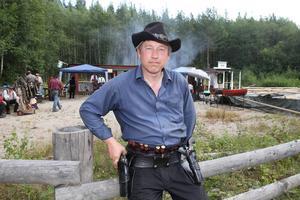 – Det är ett roligt skytte och en gemytlig stämning, tycker Pär-Erik Holmberg, Borlänge.