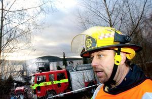 Uppmaning. Elda med vett! Då slipper du besök av Anders Jobs med kollegor på Räddningstjänsten i Leksand.