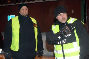 Mohammed Sager och Per Astner svarar båda för vakthållningen.