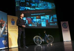 Andreas Gyllenhammar, Jämtlands Al Gore, talade om trender i klimatarbetet under Trafikantveckan.