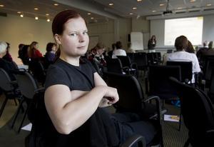 Christine Weissman från Årsunda Viking tror att det går att locka fler holländare till vikingagården med hjälp av marknadsföring på nätet.