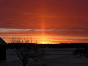 Soluppgång över Oxelby den 23-1-2011