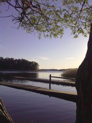Bilden tagen med mobilkamera medans jag väntade på paddlande scoutbarn. Våren kan vara magisk!