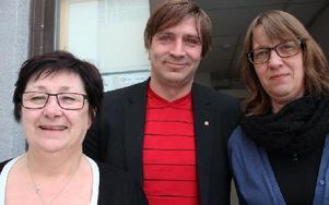 Kommunals ordförande Marianne Hirsch, kommunalrådet Lars Isacsson och Gitt Lidström, Kommunal är stolta över hur långt Avesta kommun har kommit.