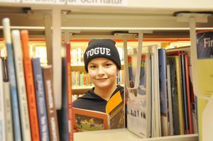 Tolvårige Mohammed Shhada fastnade för en bok om Zlatan.