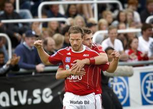 Peter Samuelsson satte 1-0 i förlustmatchen mot Gefle.