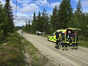 Bilen voltade strax söder om Särvsjön i Härjedalen.