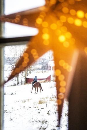 Sandra Nilsson gillar livet på landet.