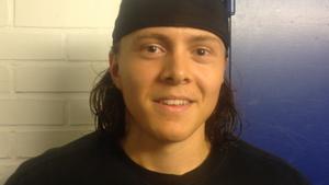 Alexander Nilsson Lindelöf efter sitt första A-lagsmål för klubben, vilket han gjorde borta mot Leksand i en träningsmatch.