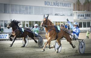 Jenny RG och Hans Brunlöf vann V4–4 när Lunchtravet avgjordes på Bollnästravet.