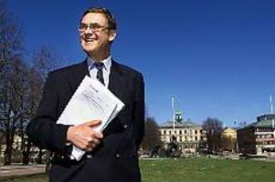 Arkivbild: LASSE WIGERTRiksdagsman. Patrik Norinder, m, presenterade den moderata skuggbudgeten i Gävle i går.
