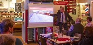 – Titta vad två pistvakter och en trött järnvägsdirektör kan åstadkomma, säger Otto Nilsson glatt. Snart drar han vidare till ett nytt jobb som regionchef i norr för Strukton Rail efter fem år som vd för Inlandsbanan AB.