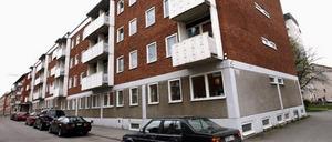 Studentlägenheter på Södra Slottsgatan.