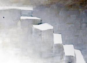 På Härke visas både Ingrid Larssons mjukare akvareller...