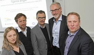 Energimyndigheten satsar 3 miljoner på projektet energieffektivisering i miljonprogrammet i Borlänge. Några av de högst inblandade, från vänster, Tina Lidberg, Jonn Are Myhren, Anders Goop, Martin Bergdahl och Jörgen Olsson.