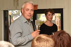 Jörgen Andersson, grundare och bryggare, på releasefesten på Café Zorn.